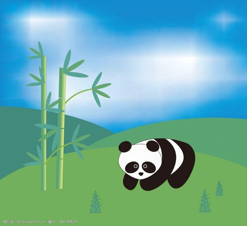 熊猫动物背景墙图片
