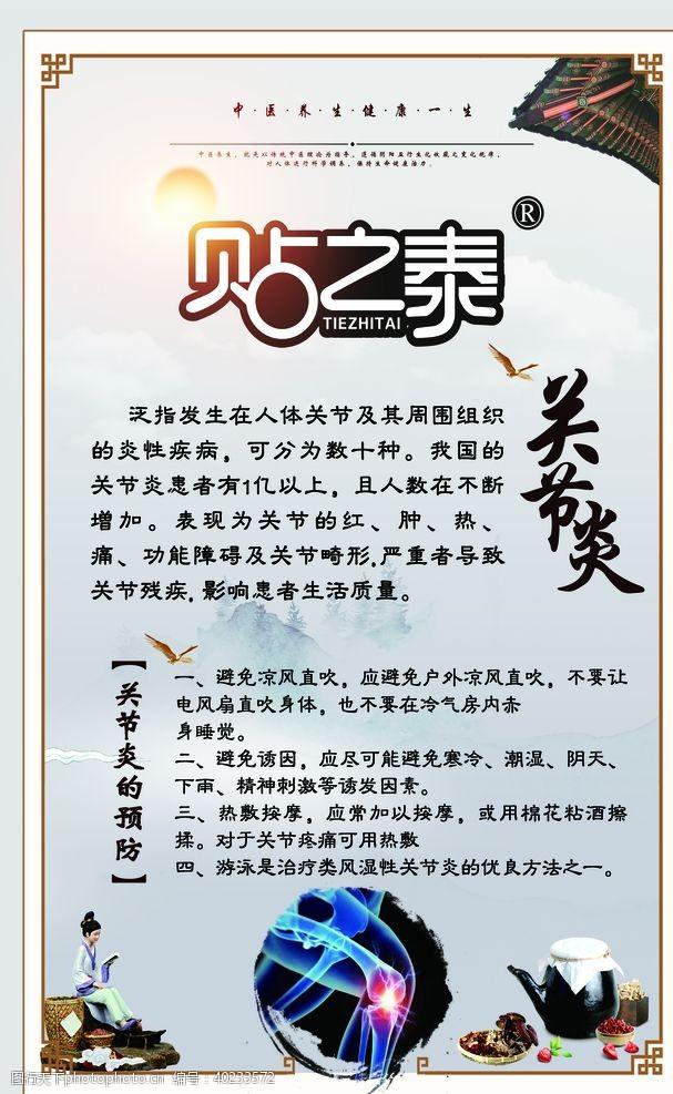 中医海报关节炎图片
