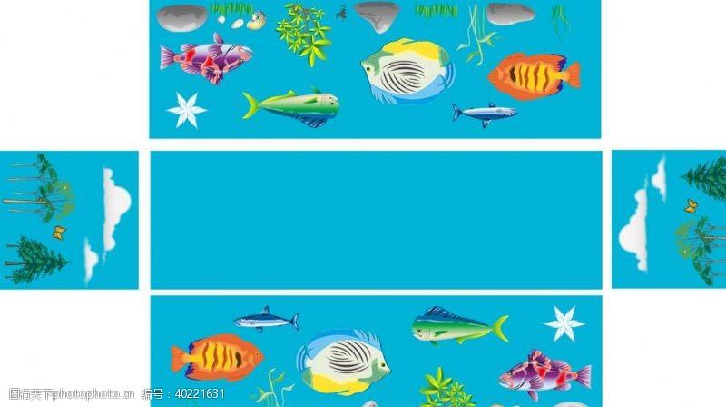 海豚海底世界图片
