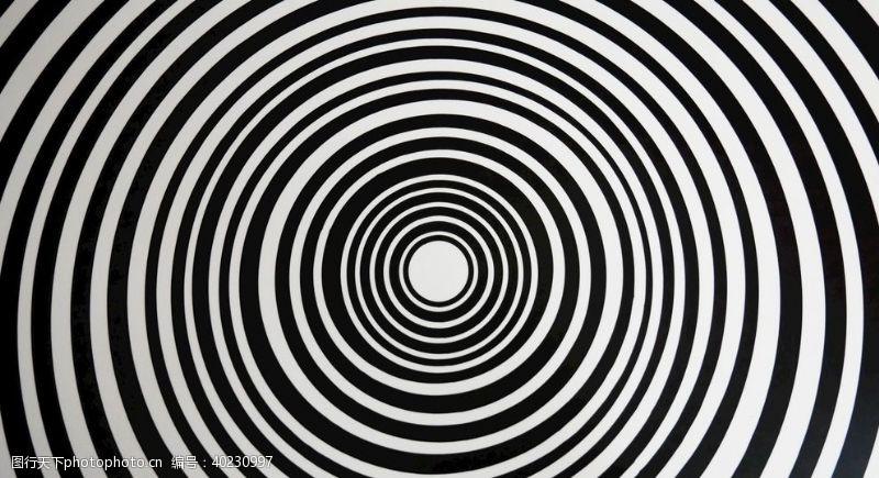 黑白圆环图片