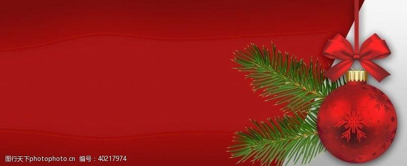 红色圣诞节日背景图片