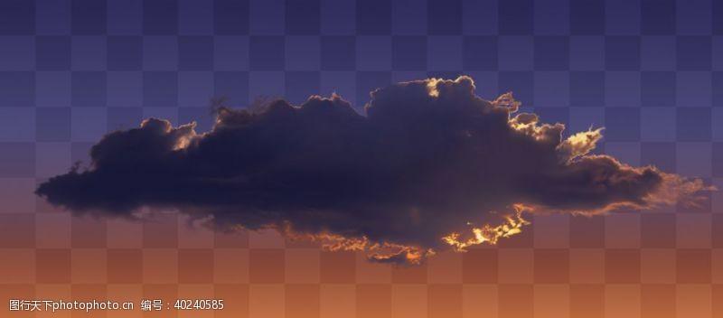 天空云彩火烧云图片