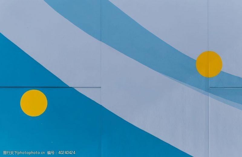 简约蓝灰墙壁背景图片