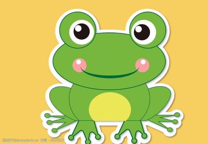 卡通手绘青蛙动物图片