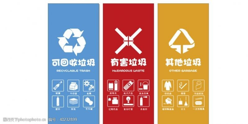 分类标识垃圾分类图片