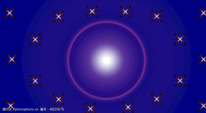 蓝底花朵矢量素材背景图片