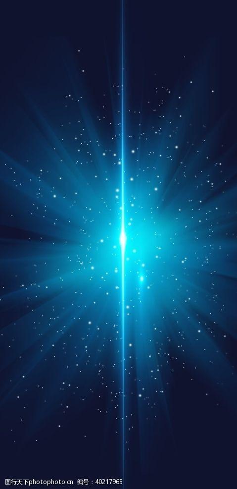 光明蓝色激光背景图片