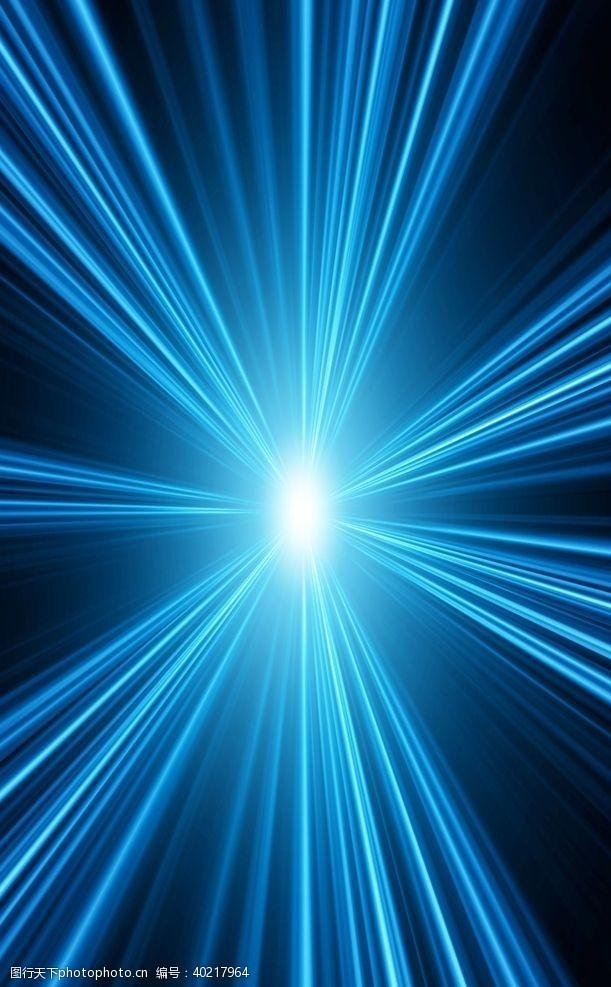 发射蓝色炫光背景图片