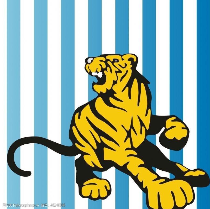 矢量动物老虎矢量图图片