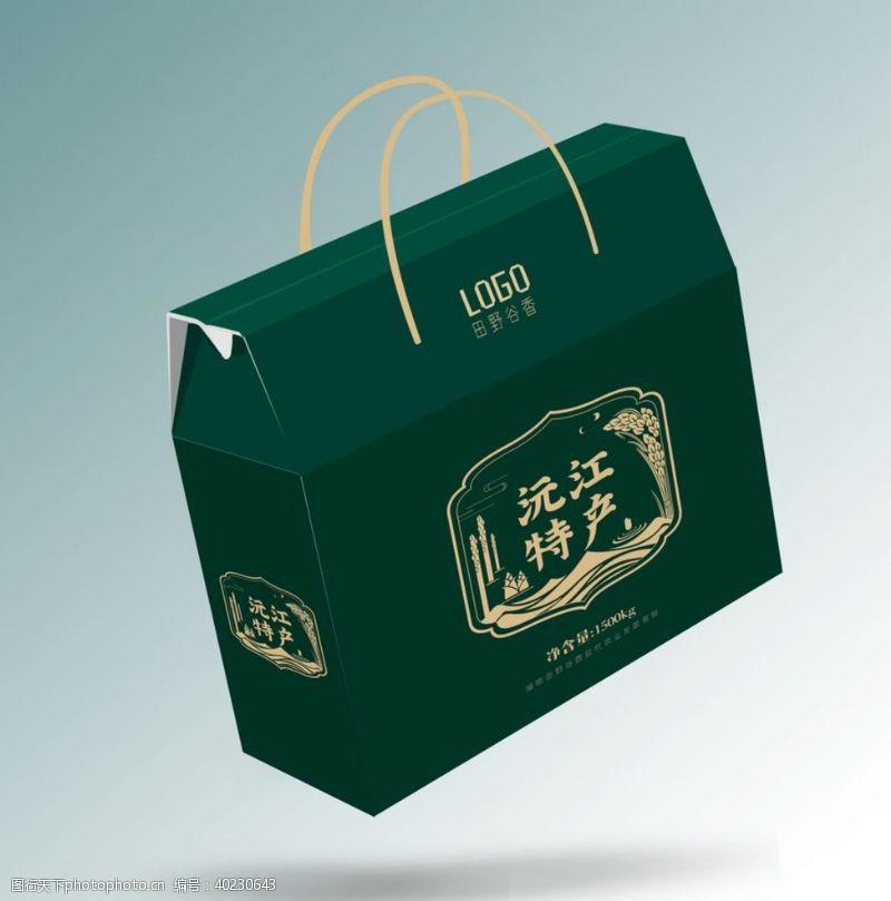 礼盒手提袋礼盒效果包装图片