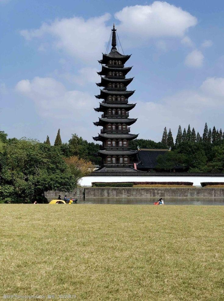 摄影图松江方塔图片