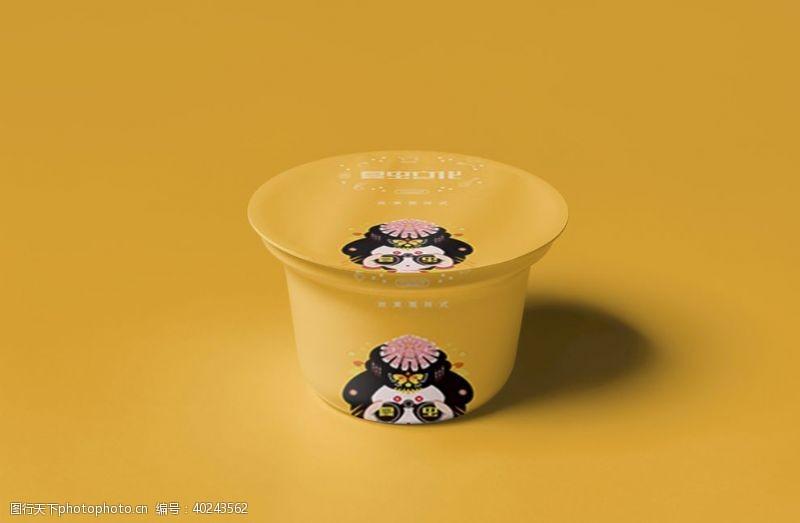 果冻酸奶盒样机图片