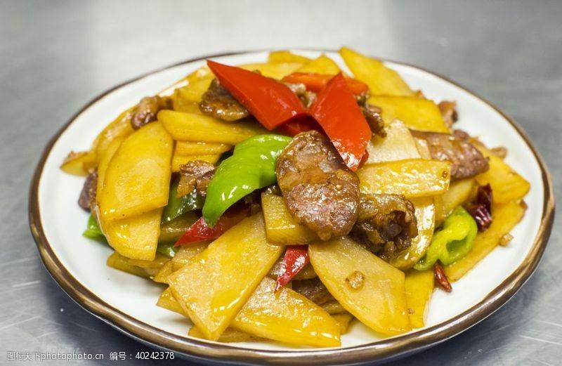 土豆香肠盖饭图片