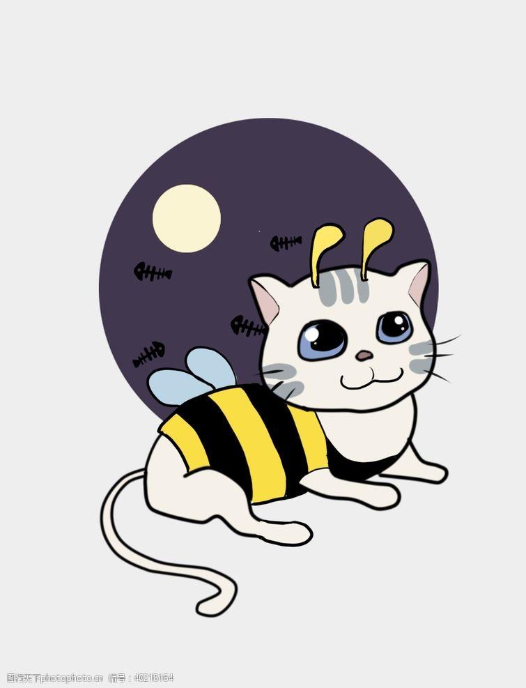 肥猫万圣节猫咪图片