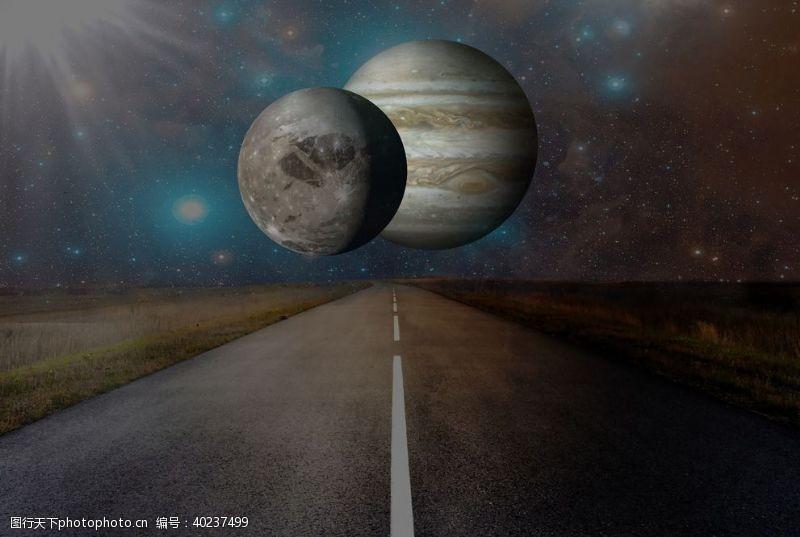 创意合成星球图片