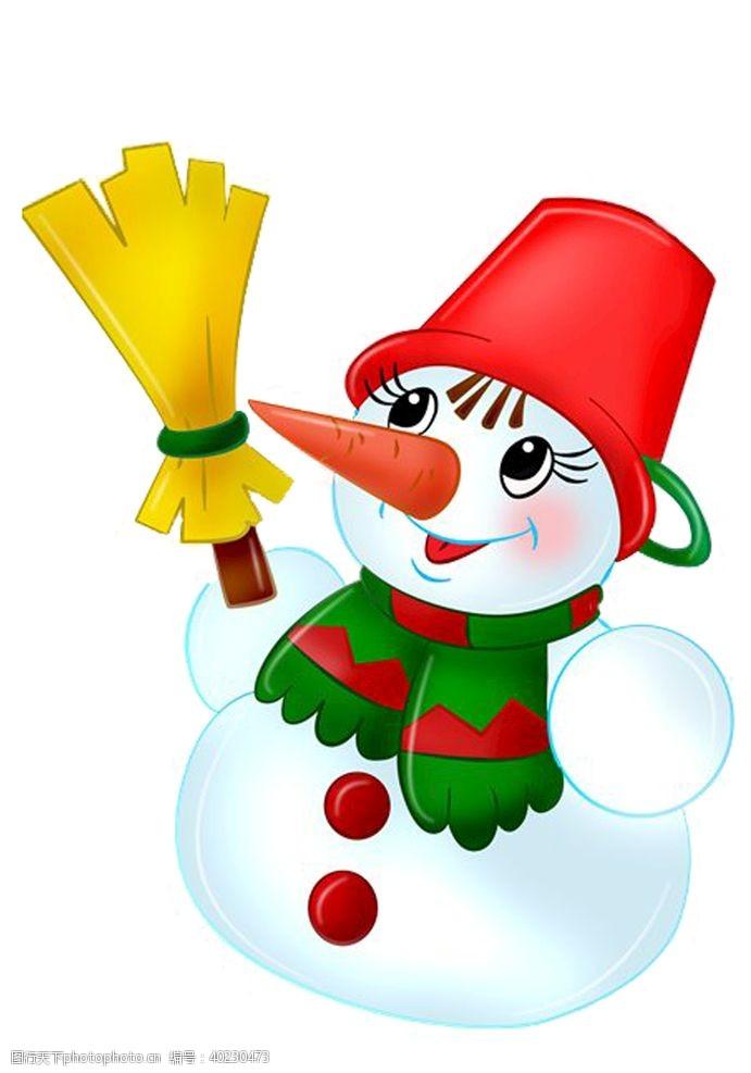 圣诞节日雪人图片