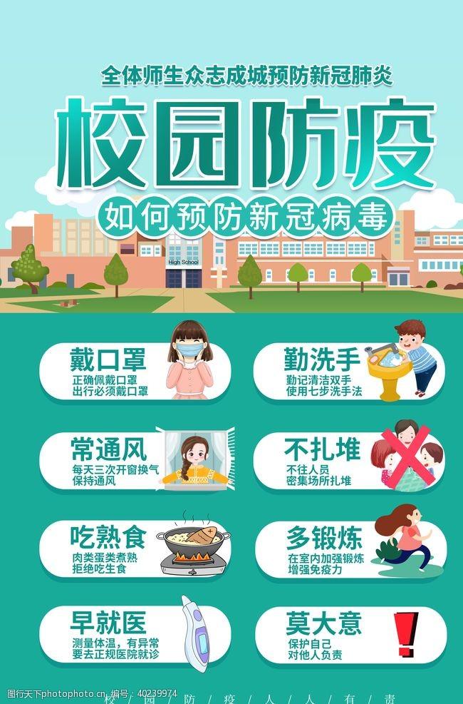 幼儿园学校防控展板图片