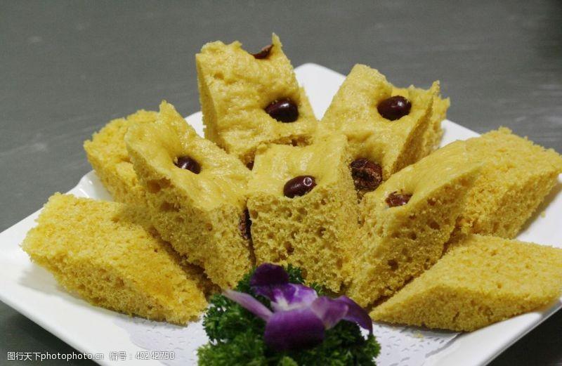 红枣玉米发糕图片