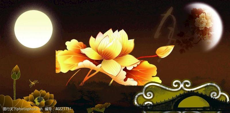 中秋节海报中秋节元素素材可自己换颜色图片