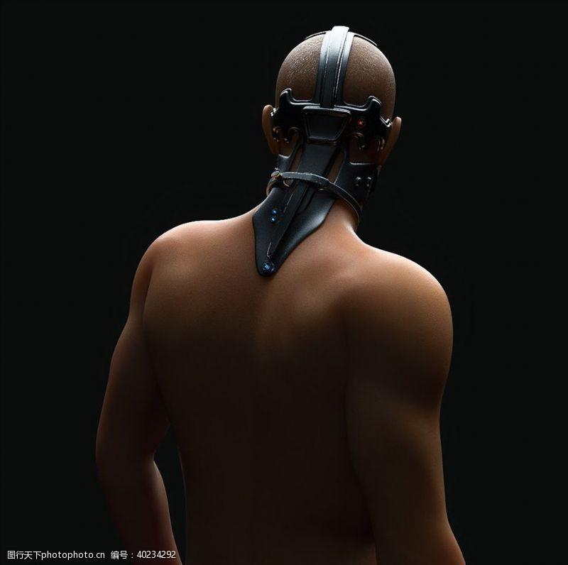 C4D模型男性机器人物模型图片