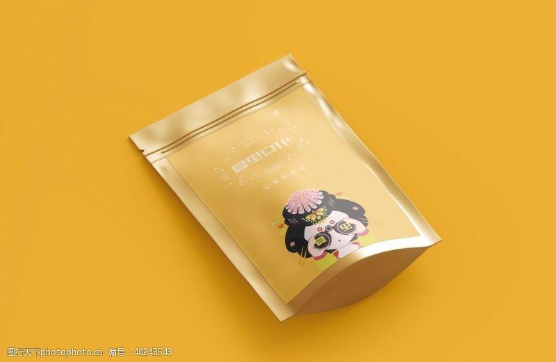 纸袋产品包装样机图片