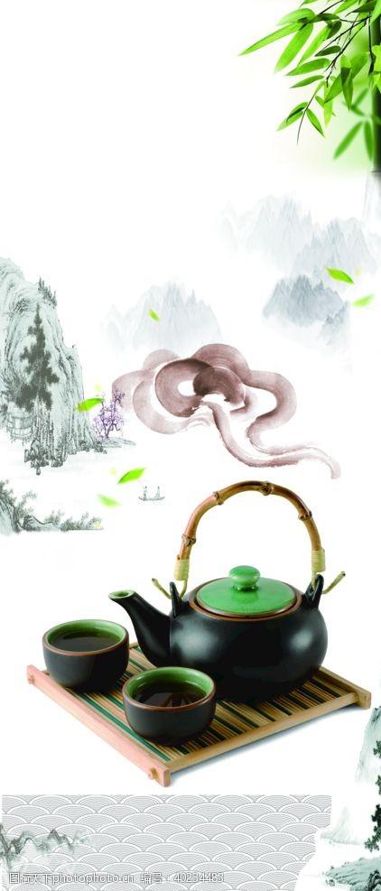 茶韵茶叶茶道茶文化茶叶素材图片