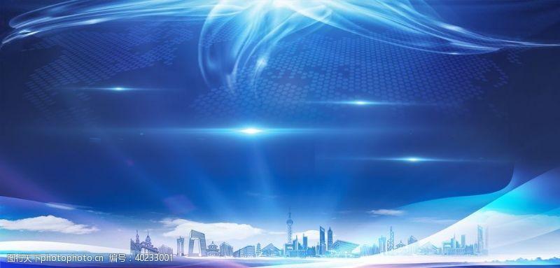 画轴城市会议背景图片
