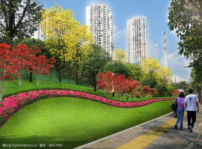 升级城市绿化绿化边坡市政图片