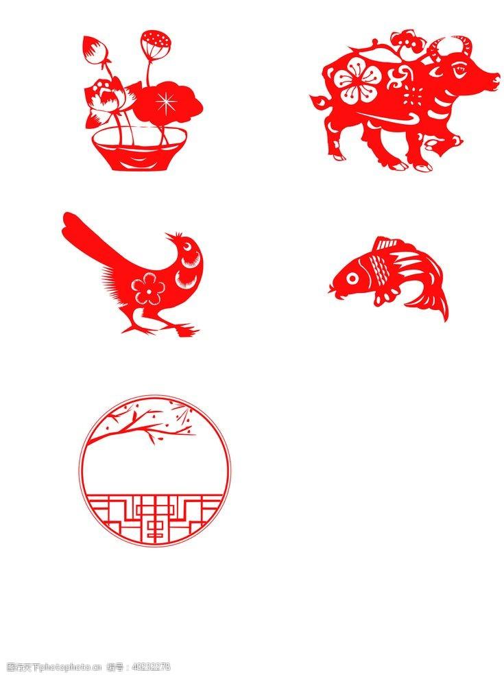 多种设计图案中国风元素图片
