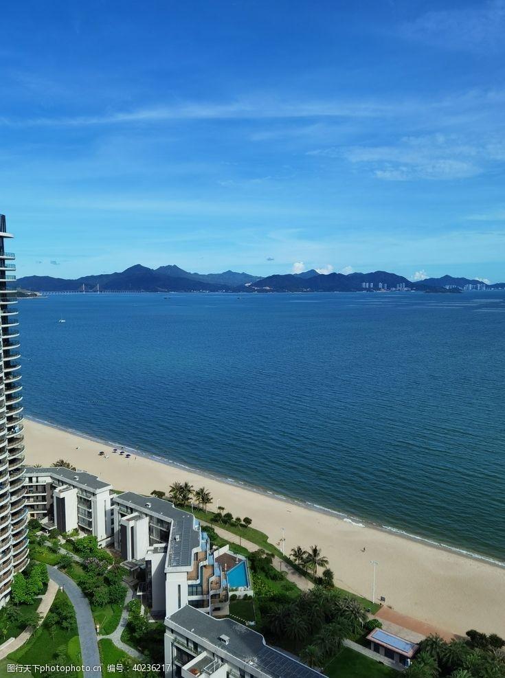 碧海蓝天海边风景图片