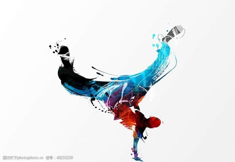跳舞渐变街舞人物图片