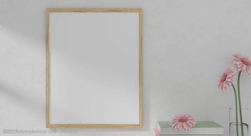 墙壁简约画框摄影图片