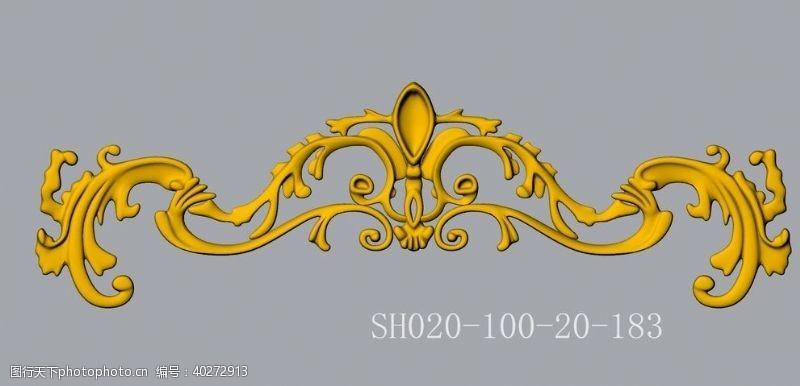 建筑装饰浮雕花SH020dwg图片
