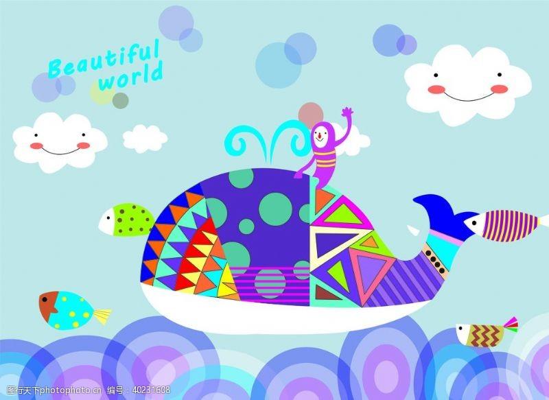 插画海报鲸鱼图片