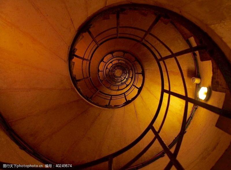 古典风格金属螺旋梯建筑螺旋楼梯图片