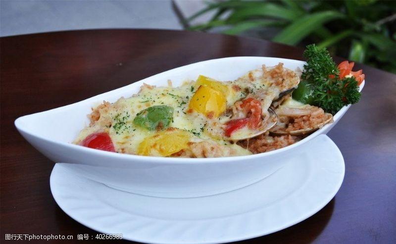素食焗饭图片