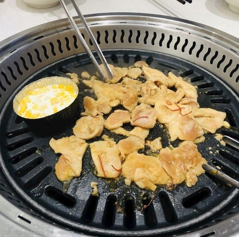 鸡排饭烤芝士鸡肉图片