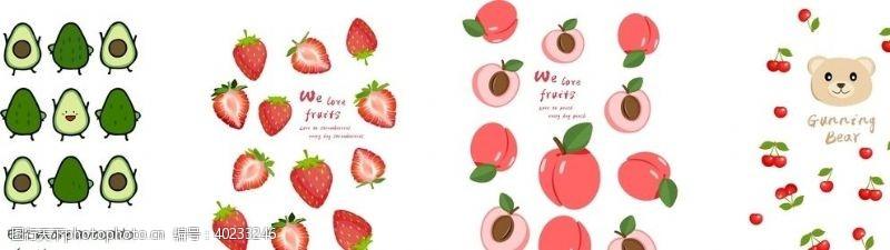 桃子卡通水果图图片