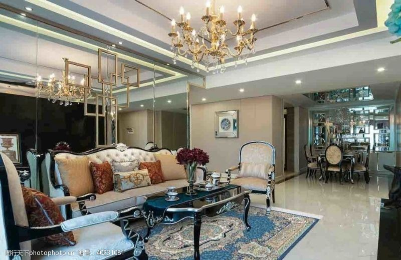 古典风格客厅效果图图片