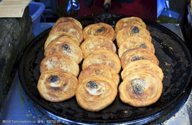 美食油葱饼图片