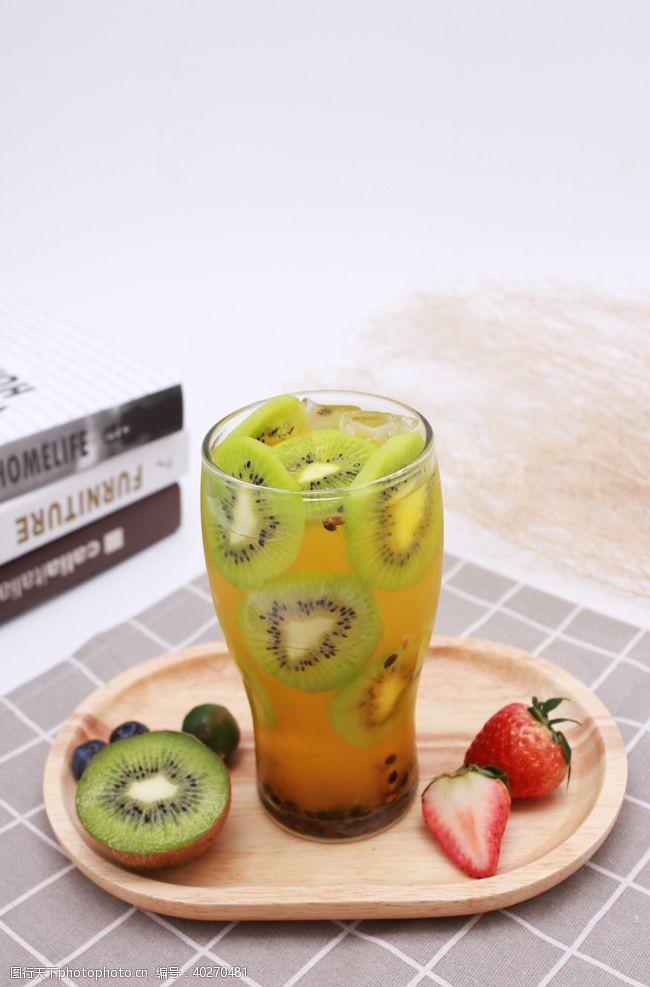 气泡猕猴桃汁猕猴桃饮品图片