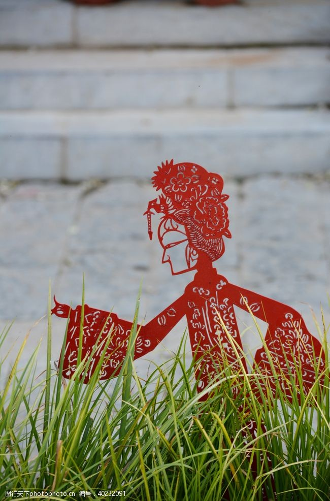 艺术品民俗剪纸戏曲人物雕塑图片