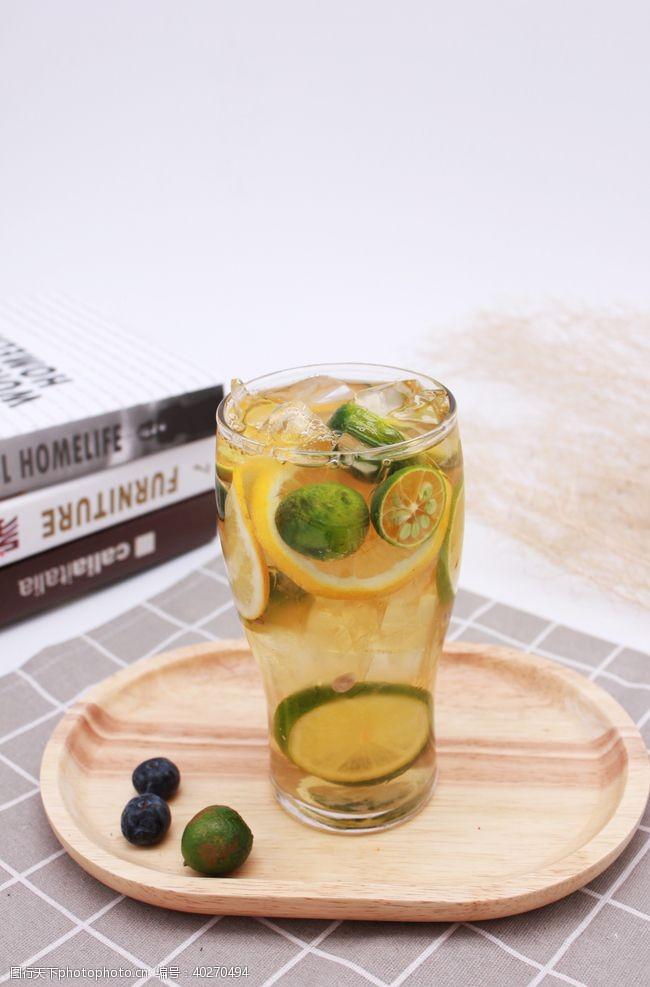 气泡柠檬水茶饮冷饮图片