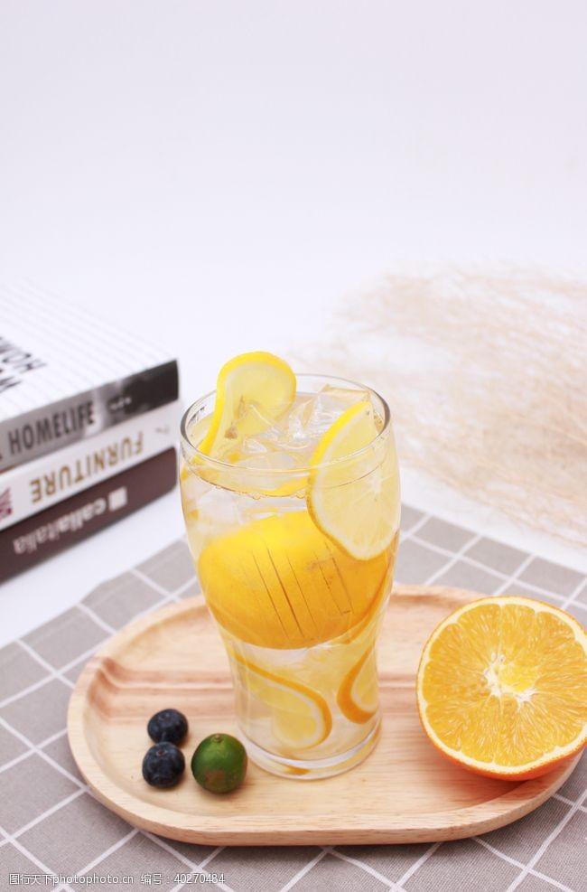 芒果柠檬水冷饮饮品图片