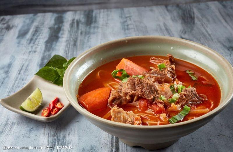 西红柿牛腩汤河粉图片