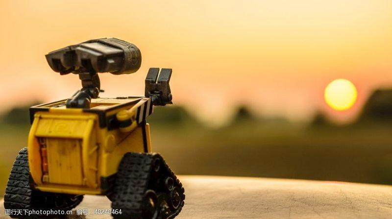 日落汽车人物玩具图片
