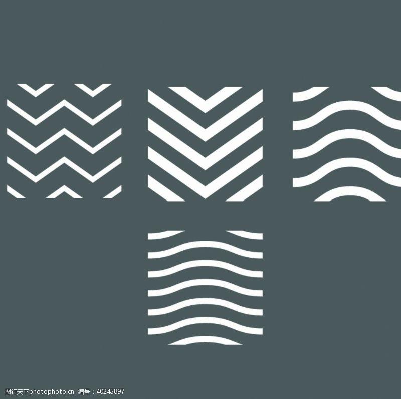 创意插画曲线线条底纹图片