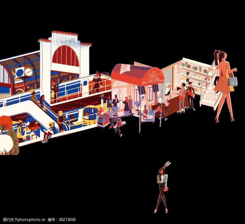 商业街商业图片