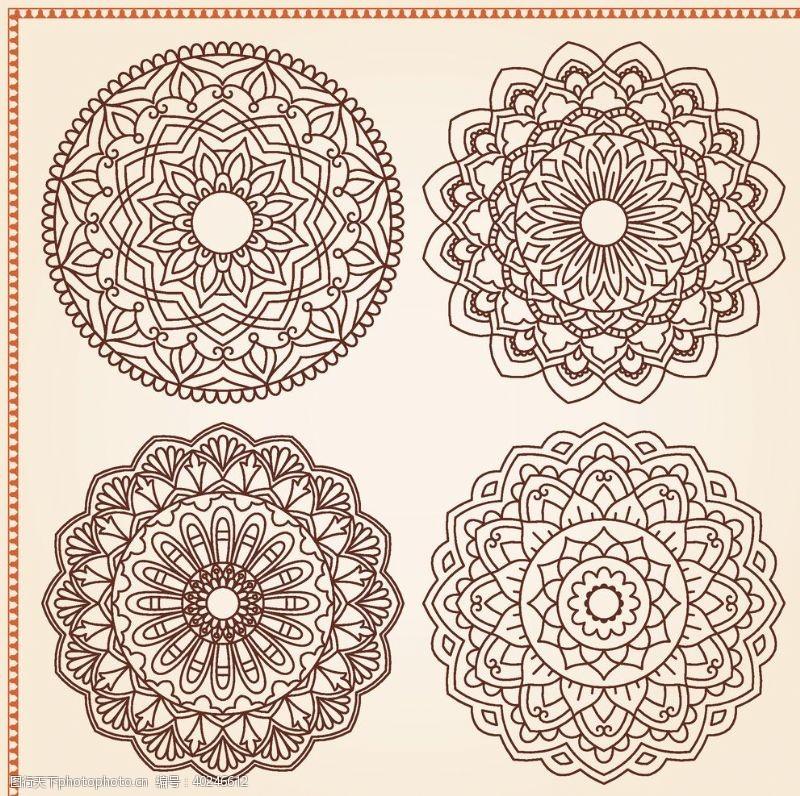 边框纹理矢量传统吉祥图腾花纹图片