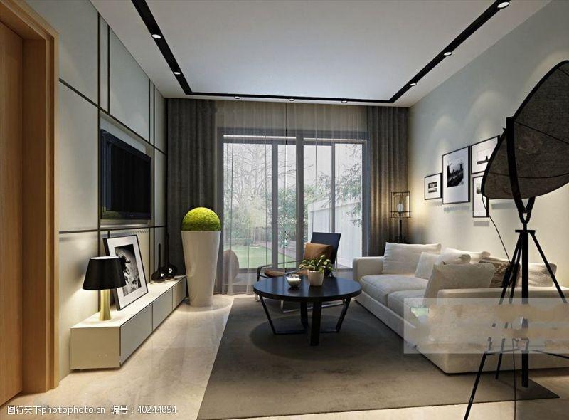 室内模型时尚客厅图片